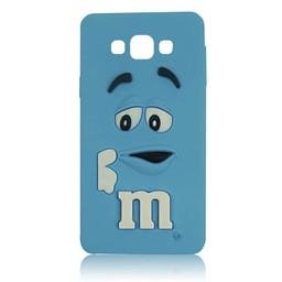 Samsung Galaxy A3 siliconen hoesje M&M blauw
