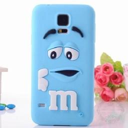 Samsung Galaxy S5 mini Siliconen hoesje M&M Blauw