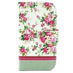 Samsung Galaxy S Duos(2)/Trend Plus  Leren Wallet Flowers