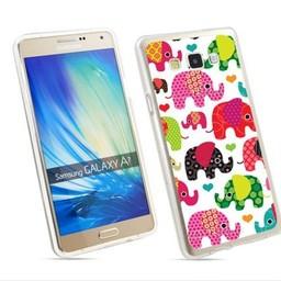 Samsung Galaxy A7 TPU hoesje Olifantjes