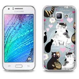 Samsung Galaxy J1 (2015) TPU hoesje Cats