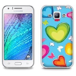 Samsung Galaxy J1 TPU hoesje Hartjes