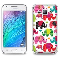 Samsung Galaxy J1 TPU hoesje Olifantjes