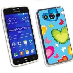 Samsung Galaxy Core 2 TPU hoesje Hartjes