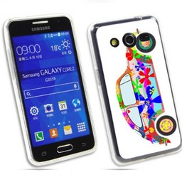 Samsung Galaxy Core 2 TPU hoesje VW Kever Flower Power