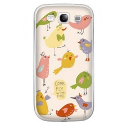 Samsung Galaxy S3 TPU Hoesje Come fly with me