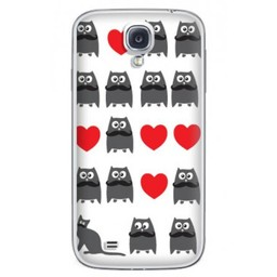 Samsung Galaxy S4 TPU Hoesje Cat and Owl