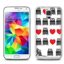 Samsung Galaxy S5 TPU Hoesje Cat and Owl