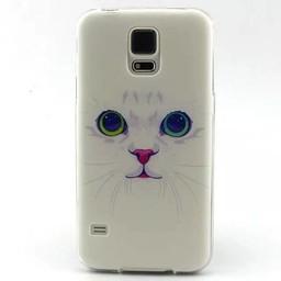 Samsung S5 mini siliconen hoesje Cats