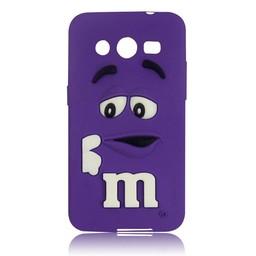 Samsung Galaxy Core 2 siliconen M&M hoesje Paars