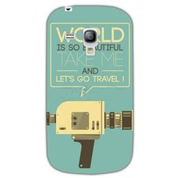 Samsung Galaxy S3 mini TPU hoesje Let's go Travel