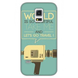 Samsung Galaxy S5 mini TPU hoesje Let's go travel