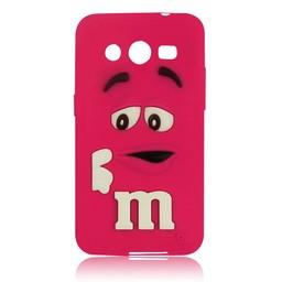 Samsung Galaxy Core 2 siliconen M&M hoesje Rose