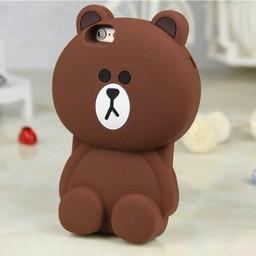 Iphone 4(S) siliconen 3D hoesje Beertje Bruin