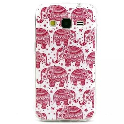 Samsung Galaxy Core Prime TPU hoesje Olifantjes Rose
