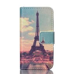 Samsung S5 PU lederen hoesje Wallet Paris