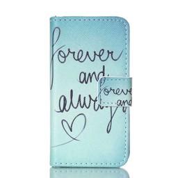 Samsung S5 PU lederen hoesje Wallet Forever and Always
