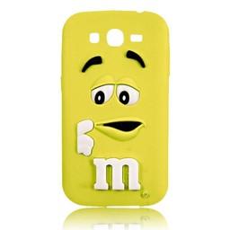 Samsung Galaxy Core Prime siliconen M&M hoesje Geel