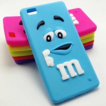 Huawei p8 lite m m licht blauw hoesje for Huawei p8 te koop