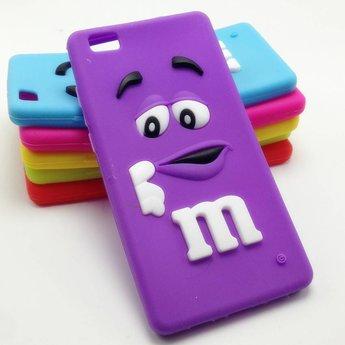 Huawei P8 Lite hoesjes M&M Paars