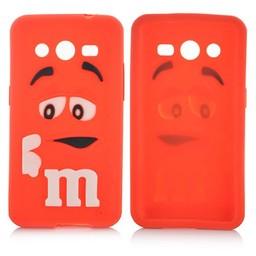 Samsung Galaxy Core 2 siliconen M&M hoesje Rood