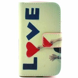 Samsung Galaxy S3 mini PU Lederen Book Wallet Love