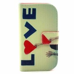 Samsung Galaxy S Duos(2)/Trend Plus PU Lederen Wallet hoesjes LOVE