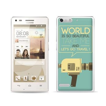 Huawei Ascend G6 TPU hoesje Let's go Travel