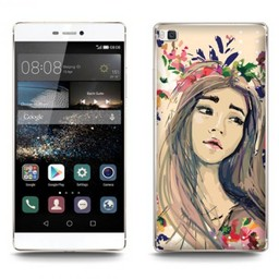 Huawei Ascend P8 Lite TPU hoesje Pretty Girl