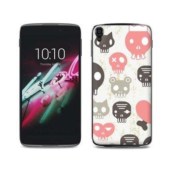 Alcatel One Touch Idol 3 (4,7 inch) TPU hoesje Skulls Pink