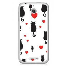 HTC Desire 510 TPU hoesje Cats