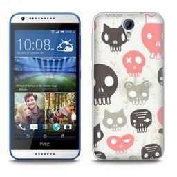 HTC Desire 620 TPU hoesje Skulls