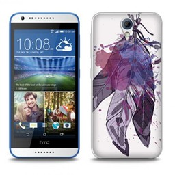 HTC Desire 620 TPU hoesje Veertjes