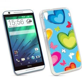 HTC Desire 820 TPU hoesje Hartjes