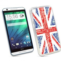 HTC Desire 820 TPU hoesje UK vlag