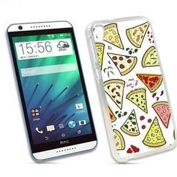 HTC Desire 820 TPU hoesje Pizza