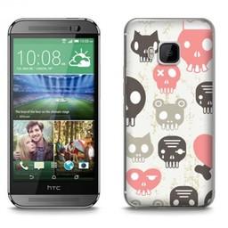 HTC Desire M9 TPU hoesje Skulls