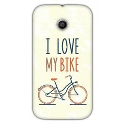 Motorola Moto E TPU hoesje I Love my Bike