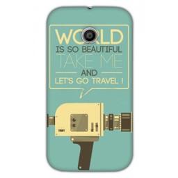 Motorola Moto E TPU hoesje Let's go travel