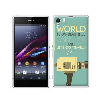 Sony Xperia Z1 TPU hoesje Let's go travel