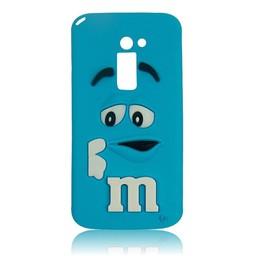 LG Optimus G2 siliconen hoesjes M&M Blauw