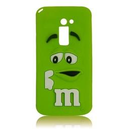 LG Optimus G2 siliconen hoesjes M&M Groen