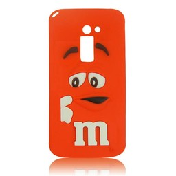LG Optimus G2 siliconen hoesjes M&M Rood
