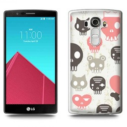 LG Optimus G4 TPU hoesje Skulls