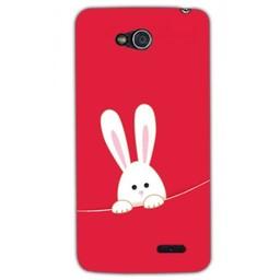 LG Optimus L90 TPU hoesje White Bunny