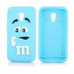 Motorola Moto G2 siliconen hoesjes M&M Blauw