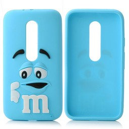 Motorola Moto G3 siliconen hoesjes M&M Blauw