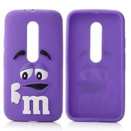 Motorola Moto G3 siliconen hoesjes M&M Paars