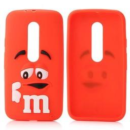 Motorola Moto G3 siliconen hoesjes M&M Rood