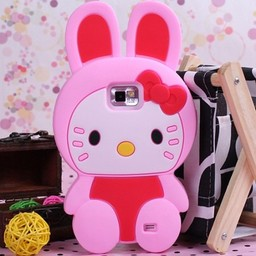 Hello Kitty siliconen hoesjes Rose voor Samsung Galaxy S2